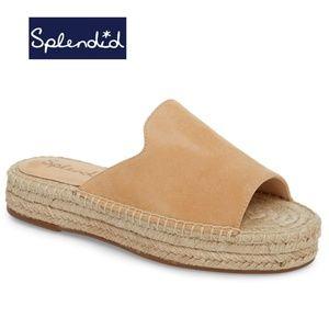 Splendid Franci Espadrille Slide Sandal Nude Suede